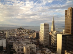 Transamerica Pyramid Building and Coit Tower, SF