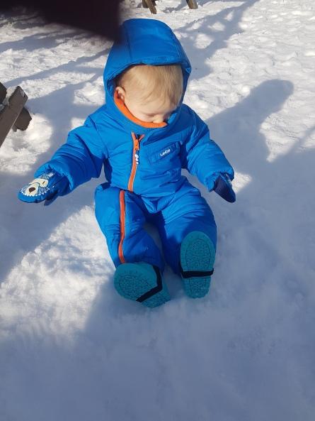 Seb in the snow